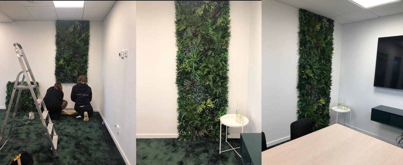 Växtvägg konstgjord