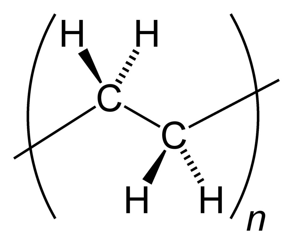 strukturformel för polyeten